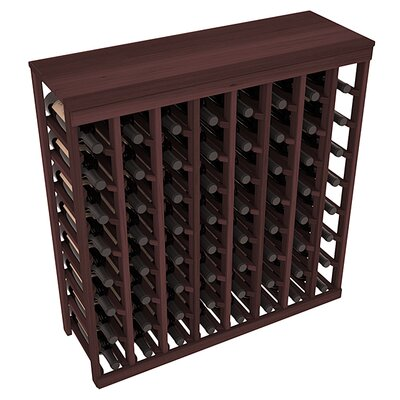 Karnes Redwood Table Top 64 Bottle Floor Wine Rack Finish: Walnut
