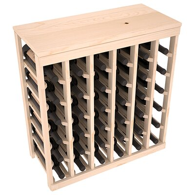 Karnes Pine 36 Bottle Floor Wine Rack Finish: Natural