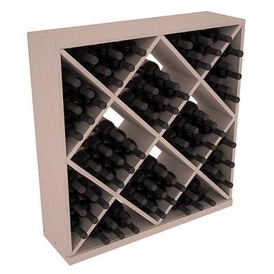 Karnes Pine Diamond Cube 82 Bottle Floor Wine Rack Finish: Gray