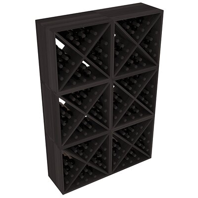 Karnes Redwood X-Cube 144 Bottle Floor Wine Rack Finish: Black