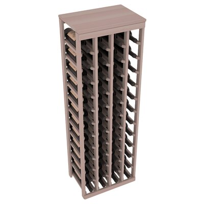 Karnes Redwood Table Top 48 Bottle Floor Wine Rack Finish: Gray