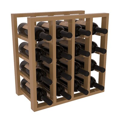 Karnes Pine Lattice 16 Bottle Tabletop Wine Rack Finish: Oak Satin