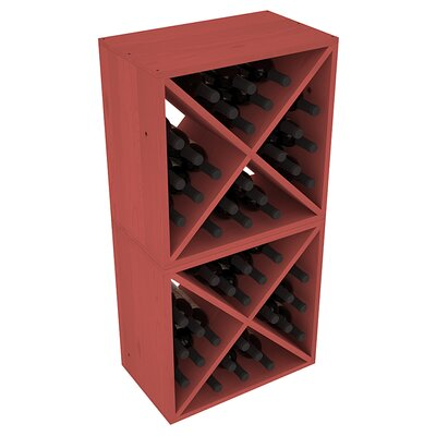 Karnes Pine X-Cube 48 Bottle Floor Wine Rack Finish: Cherry