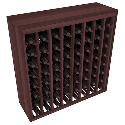Karnes Redwood Deluxe 64 Bottle Floor Wine Rack Finish: Walnut