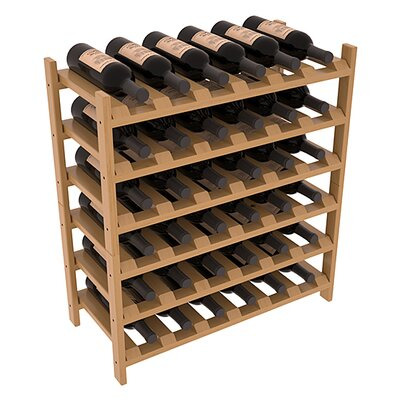 Karnes Pine Stackable 36 Bottle Floor Wine Rack Finish: Oak Satin