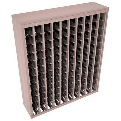 Karnes Redwood Deluxe 120 Bottle Floor Wine Rack Finish: Gray Satin
