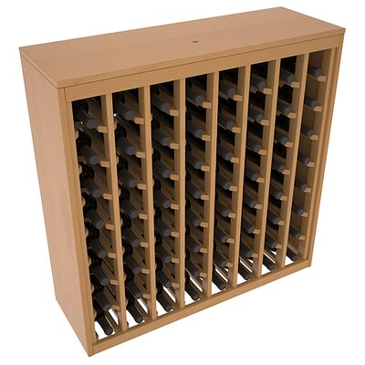 Karnes Pine Deluxe 64 Bottle Floor Wine Rack Finish: Oak Satin