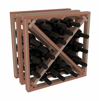 Karnes Redwood Lattice X-Cube 24 Bottle Tabletop Wine Rack Finish: Natural
