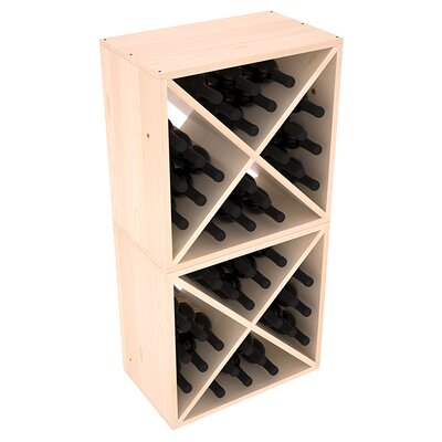 Karnes Pine X-Cube 48 Bottle Floor Wine Rack Finish: Natural Satin