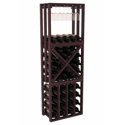 Karnes Redwood Lattice Stacking Cube 45 Bottle Floor Wine Rack Finish: Burgundy Satin