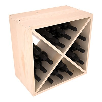 Karnes Pine X-Cube 24 Bottle Tabletop Wine Rack Finish: Natural Satin