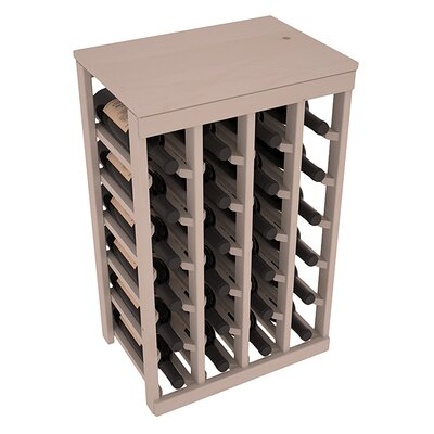 Karnes Pine 24 Bottle Floor Wine Rack Finish: Gray