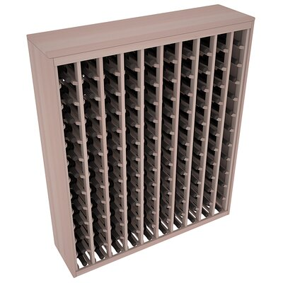 Karnes Redwood Deluxe 120 Bottle Floor Wine Rack Finish: Gray