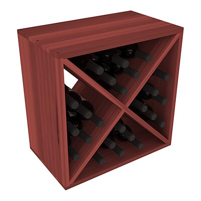 Karnes Redwood X-Cube 24 Bottle Tabletop Wine Rack Finish: Cherry