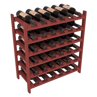 Karnes Pine Stackable 36 Bottle Floor Wine Rack Finish: Cherry