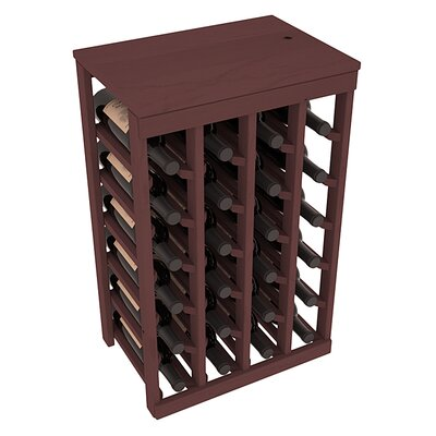 Karnes Pine 24 Bottle Floor Wine Rack Finish: Walnut