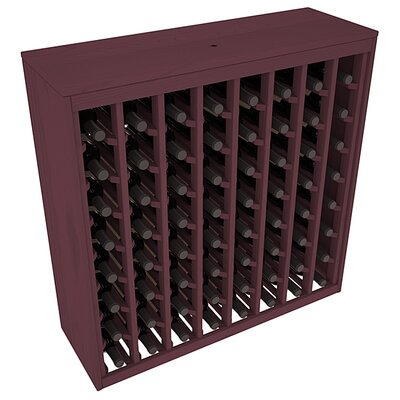 Karnes Pine Deluxe 64 Bottle Floor Wine Rack Finish: Burgundy