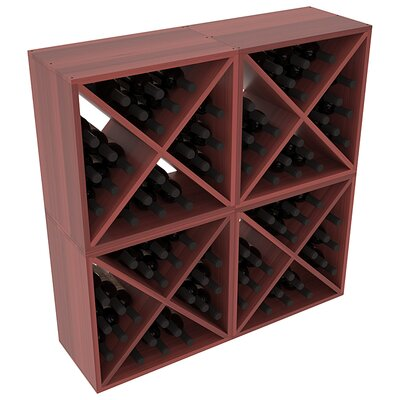 Karnes Redwood X-Cube 96 Bottle Floor Wine Rack Finish: Cherry Satin