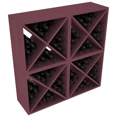 Karnes Pine X-Cube 96 Bottle Floor Wine Rack Finish: Burgundy