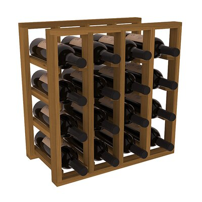 Karnes Redwood Lattice 16 Bottle Tabletop Wine Rack Finish: Oak