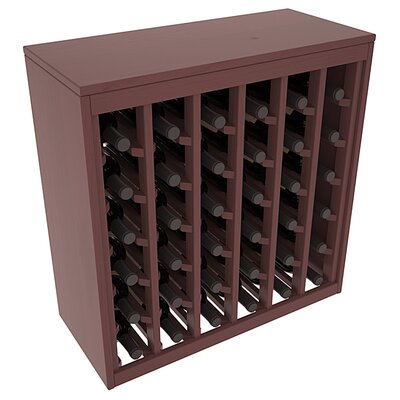Karnes Pine Deluxe 36 Bottle Floor Wine Rack Finish: Walnut Satin
