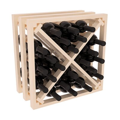 Karnes Pine Lattice X-Cube 24 Bottle Tabletop Wine Rack Finish: Natural Satin