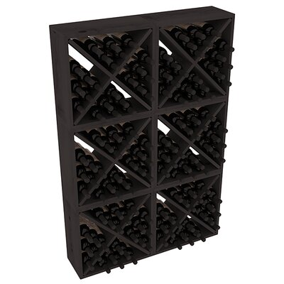 Karnes Pine Rustic Cube 144 Bottle Floor Wine Rack Finish: Black