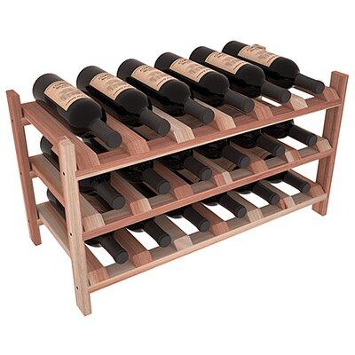 Karnes Redwood Stackable 18 Bottle Tabletop Wine Rack Finish: Natural