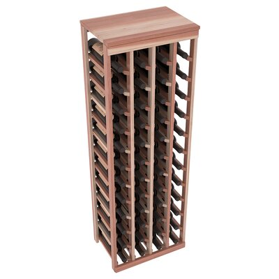 Karnes Redwood Table Top 48 Bottle Floor Wine Rack Finish: Natural Satin