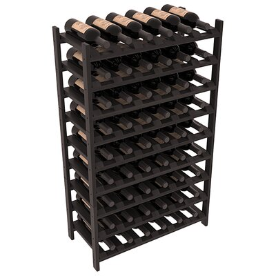 Karnes Redwood Stackable 54 Bottle Floor Wine Rack Finish: Black Satin
