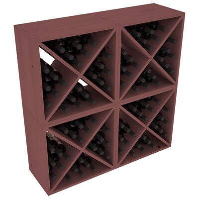 Karnes Pine X-Cube 96 Bottle Floor Wine Rack Finish: Walnut