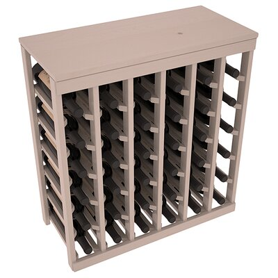 Karnes Pine 36 Bottle Floor Wine Rack Finish: Gray Satin