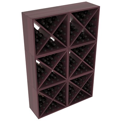 Karnes Redwood X-Cube 144 Bottle Floor Wine Rack Finish: Burgundy Satin