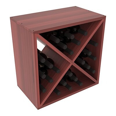 Karnes Redwood X-Cube 24 Bottle Tabletop Wine Rack Finish: Cherry Satin