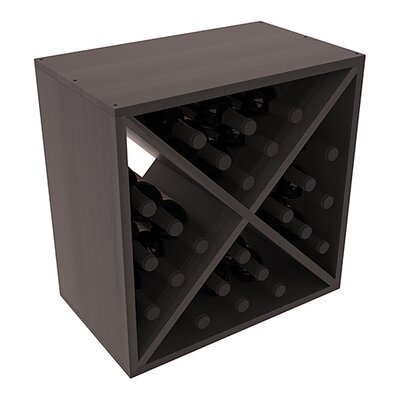 Karnes Redwood X-Cube 24 Bottle Tabletop Wine Rack Finish: Black Satin
