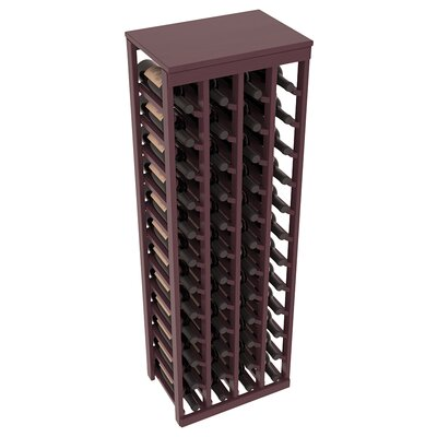 Karnes Pine 48 Bottle Floor Wine Rack Finish: Burgundy Satin