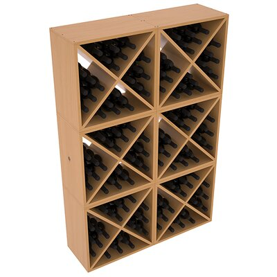 Karnes Pine X-Cube 144 Bottle Floor Wine Rack Finish: Oak Satin