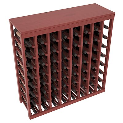 Karnes Pine 64 Bottle Floor Wine Rack Finish: Cherry Satin