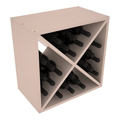 Karnes Pine X-Cube 24 Bottle Tabletop Wine Rack Finish: Gray Satin