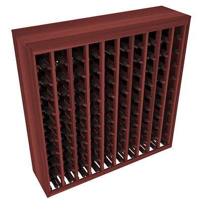 Karnes Redwood Deluxe 100 Bottle Floor Wine Rack Finish: Cherry