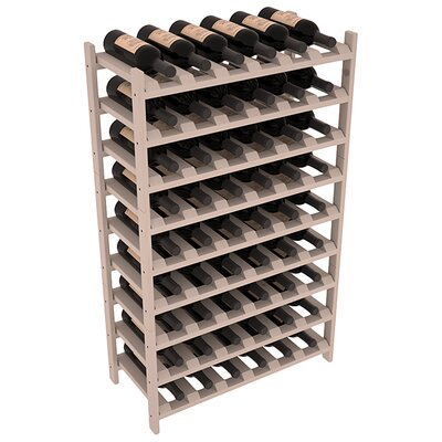 Karnes Pine Stackable 54 Bottle Floor Wine Rack Finish: Gray
