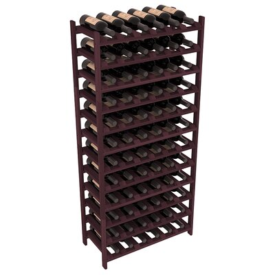 Karnes Redwood Stackable 72 Bottle Floor Wine Rack Finish: Burgundy