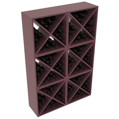 Karnes Pine X-Cube 144 Bottle Floor Wine Rack Finish: Burgundy Satin