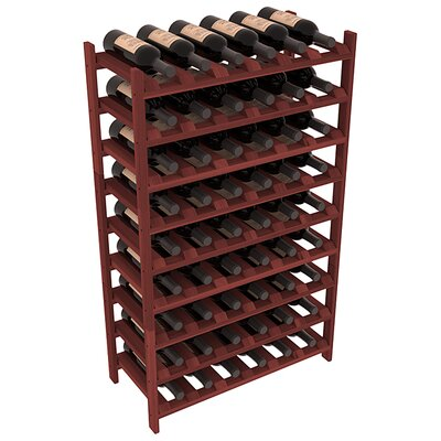 Karnes Redwood Stackable 54 Bottle Floor Wine Rack Finish: Cherry