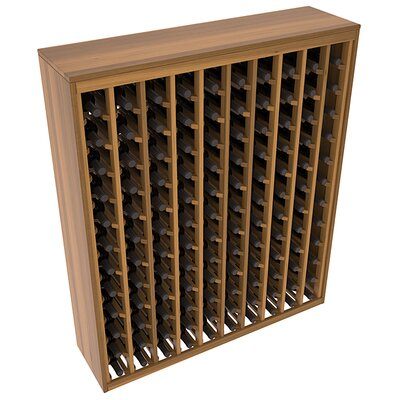 Karnes Redwood Deluxe 120 Bottle Floor Wine Rack Finish: Oak Satin