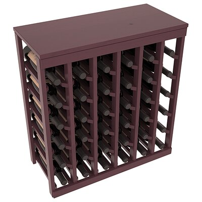 Karnes Pine 36 Bottle Floor Wine Rack Finish: Burgundy Satin