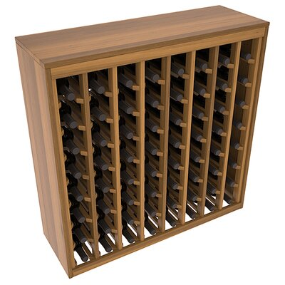 Karnes Redwood Deluxe 64 Bottle Floor Wine Rack Finish: Oak Satin