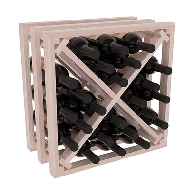 Karnes Redwood Lattice X-Cube 24 Bottle Tabletop Wine Rack Finish: Gray Satin