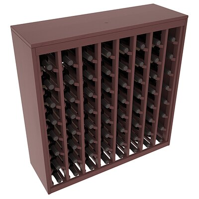 Karnes Pine Deluxe 64 Bottle Floor Wine Rack Finish: Walnut Satin