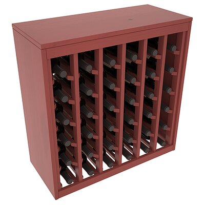 Karnes Pine Deluxe 36 Bottle Floor Wine Rack Finish: Cherry Satin